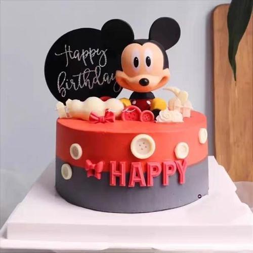 唐老鸭树叶米奇米妮米老鼠公仔生日蛋糕装饰品摆件网