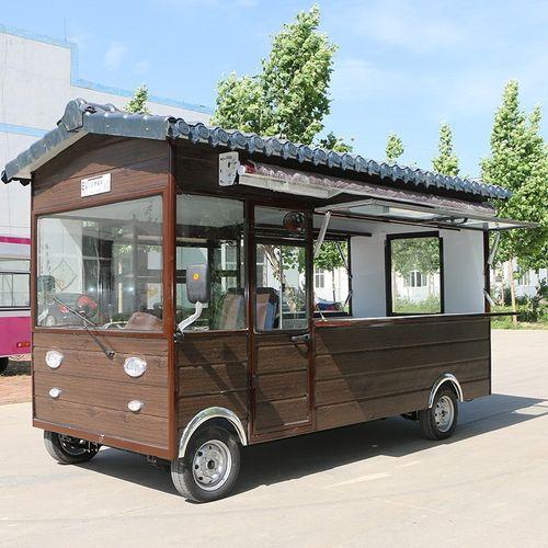 电动四轮小吃车房车木屋保温车多功能摆摊冷饮奶茶车