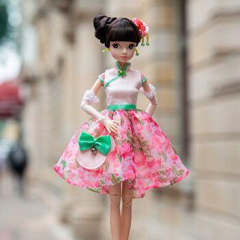 可儿娃娃 时尚米妮-沪 古装娃娃 儿童女孩玩具 芭比娃娃套装大礼盒