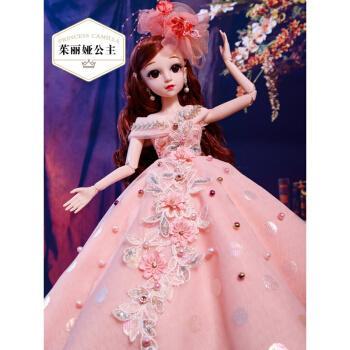 芭比娃娃套装大礼盒60厘米bjd娃娃仿真大号洋娃娃换衣