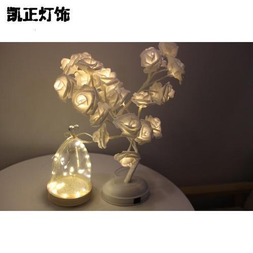 创意温馨送女生闺蜜小清新走心特别小台灯_8 白玫瑰