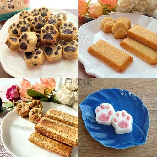 出口日本猫爪硅胶模具烤箱冰箱可用蛋糕巧克力棉花糖