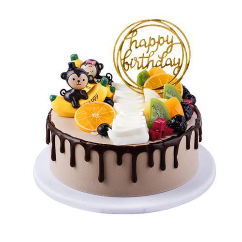 摆放网红个性蛋糕样品r橱窗柜生日蛋糕.创意不变形设计仿真模型