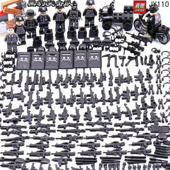 军事特种士兵人仔海豹突击队三角洲拼装积木酷匠兼容乐高玩具