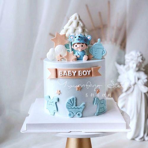 周岁烘焙蛋糕装饰鼠宝宝摆件男孩女孩生日甜品台装扮插件可爱老鼠