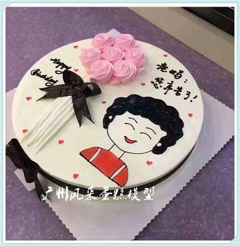 新款母亲节仿真蛋糕模型创意文字母亲生日奶油花卉塑胶假蛋糕样品