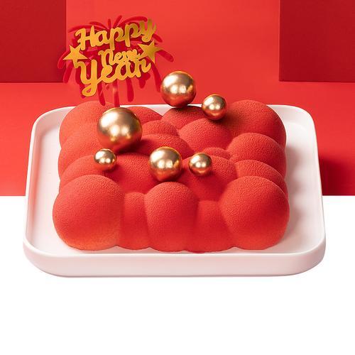 【吉祥如意】鸿运当头--草莓慕斯蛋糕