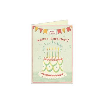 美国cavallini进口节日贺卡生日感谢祝福复古文艺风 贺卡 生日蛋糕