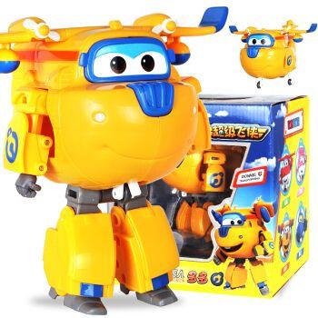 奥迪双钻 超级飞侠玩具第9季超级宠物变形机器人佩佩雷克金小子套装