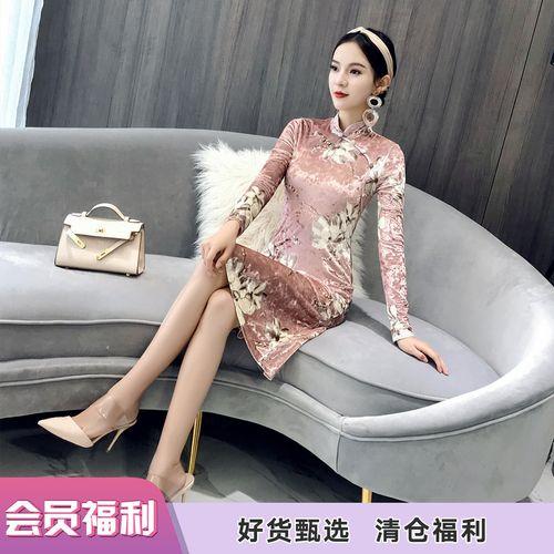 旗袍美探年轻款中国风复古女装少女长款优雅三十而已