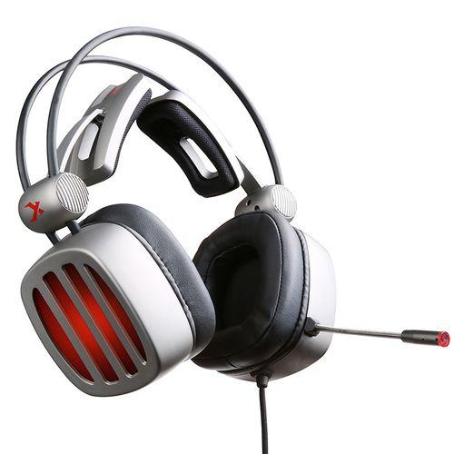 西伯利亚耳机头戴式游戏耳机耳麦电脑手游吃鸡 铁灰色