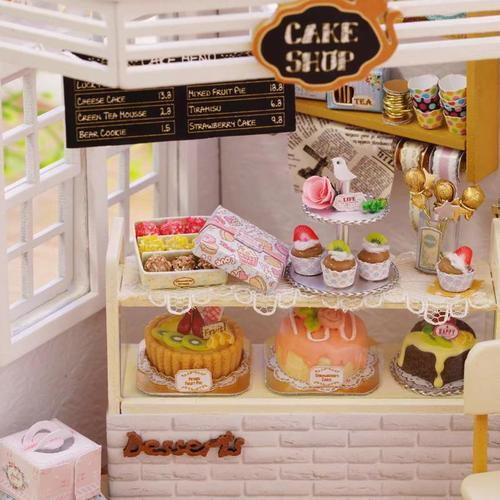 蛋糕店diy小屋蛋糕房面包奶茶甜品店模型迷你房子玩具