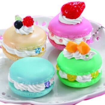 儿童创意diy仿真奶油手工蛋糕 过家家玩具马卡龙蛋糕女孩礼物 马卡龙