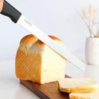 学厨 不锈钢吐司面包切片刀 专用锯齿刀 切蛋糕刀 不掉渣屑 长43.