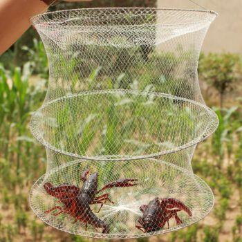渔网地网笼网鱼网捕虾网地龙鱼网 5个(10包饵+15米绳+5浮圈+5饵料袋)