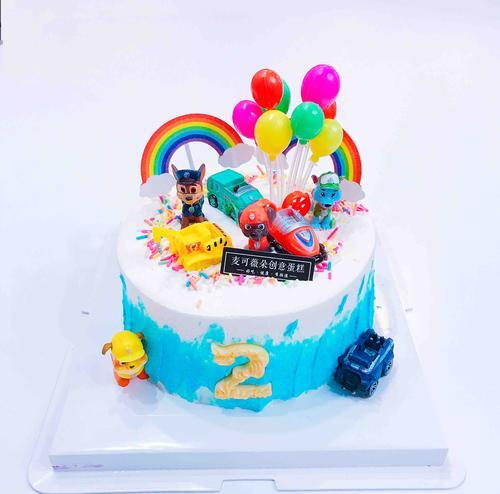 【汪汪巡逻队】卡通动漫蛋糕水果奶油鲜果夹心蛋糕