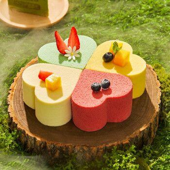 幸福西饼水果草莓芒果榴莲抹茶奶油慕斯蛋糕芝士夹心四种口味 全国