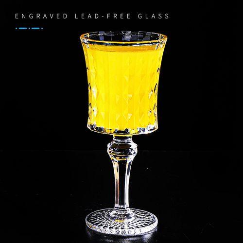 无铅高脚高脚鸡尾酒杯刻花鸡尾酒杯香槟杯150ml洋酒杯
