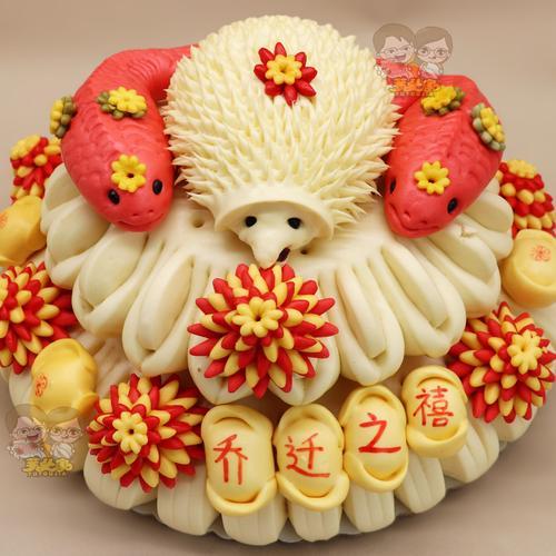 胶东花饽饽馍馍生日寿桃馒头蛋糕面点搬家礼物乔迁