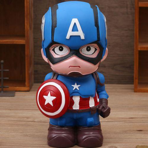 正品卡通漫威美国队长大号存钱罐创意防摔儿童礼物储蓄罐可爱小孩