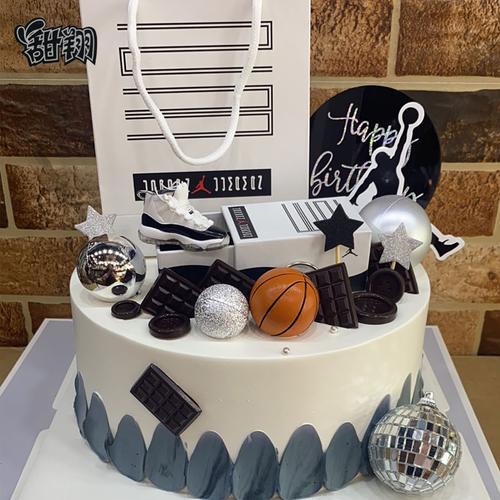 网红创意篮球aj鞋礼盒生日蛋糕天津上海苏州广州