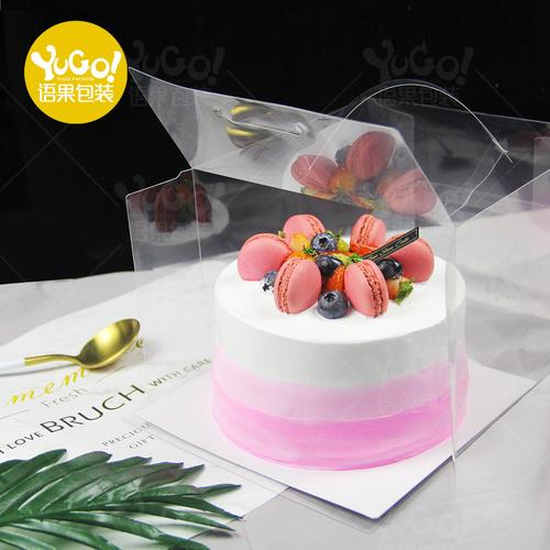 4寸5寸6寸全透明蛋糕盒子芝士慕斯水果一次性手提生日