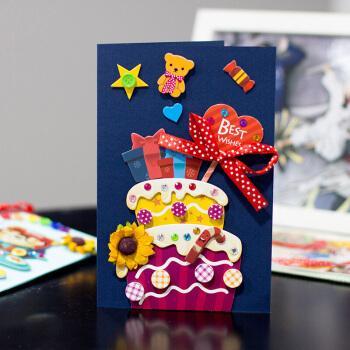 父亲节贺卡带信封小卡片diy材料包创意祝福感谢卡立体