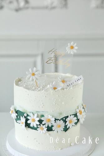 【0377】《复古小雏菊》唯美小清新的一款生日蛋糕-请