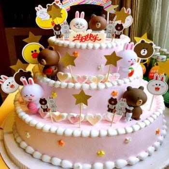 网红三层多层儿童生日蛋糕女孩男孩同城配送当日送达男女生蛋糕小朋友