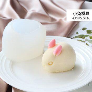 圈布丁果冻沙皮狗小兔子口水猪网红立体慕斯模具冰淇凌蛋糕硅胶模具x