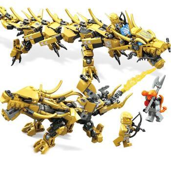 两变黄金战士含2人仔约369颗粒