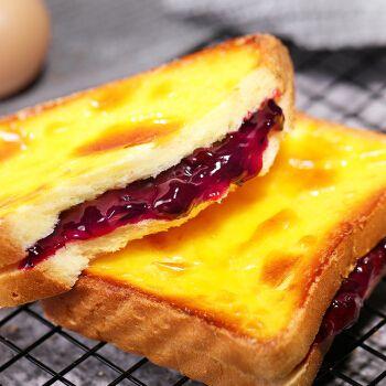 5折 岩烧乳酪吐司夹心面包整箱早餐食品休闲爆浆蛋糕夜宵充饥零食小吃