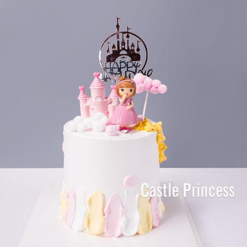 儿童节蛋糕装饰摆件小女孩皇冠公主宝宝生日派对甜品