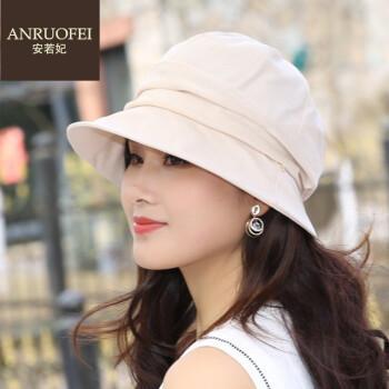 安若妃轻奢品牌渔夫帽女夏季新款堆堆帽女韩版帽子休闲出游小檐盆帽