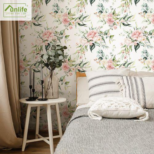 funlife 北欧风格绿苑春浓墙纸自粘防水防潮壁纸贴纸