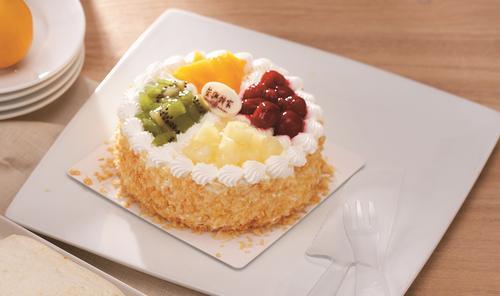【粤工惠专享】四寸鲜奶水果蛋糕(款式以门店为准)