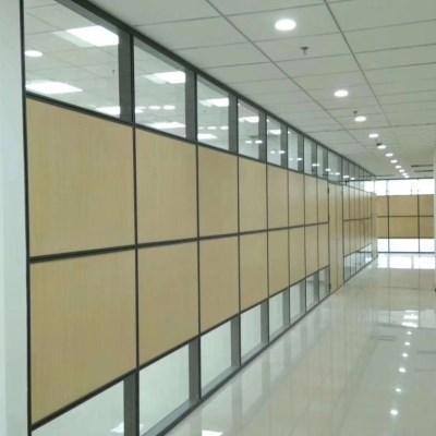 办公室玻璃隔断无框钢化玻璃隔音隔墙高隔断单层玻璃