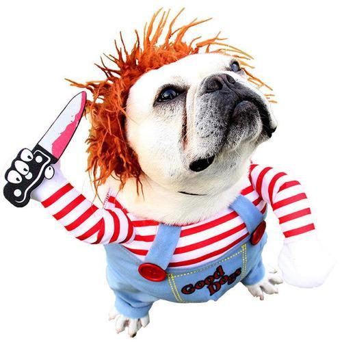 狗狗拿刀衣服致命娃娃装宠物宠物变装冬装中型犬万圣
