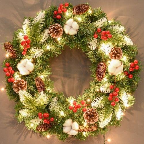 布置幼儿园儿童大号栅栏灯网红圣诞节30cm40cm圣诞花环门挂.贴纸