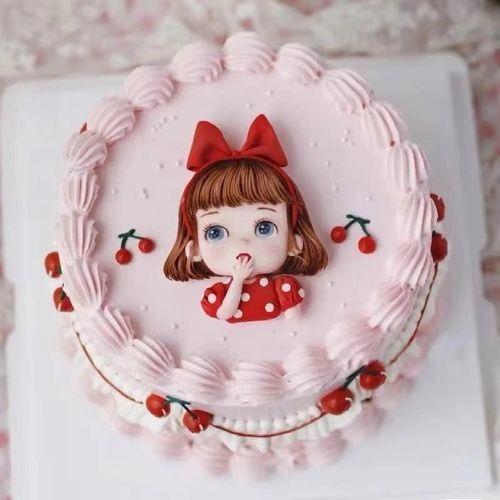 ins小红书网红女孩巧克力转印纸蛋糕烘焙装饰生日节日