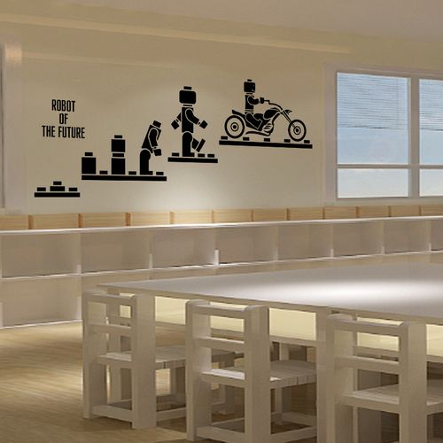 机器人墙贴纸乐高兴趣班早教班幼儿园培训机构儿童房