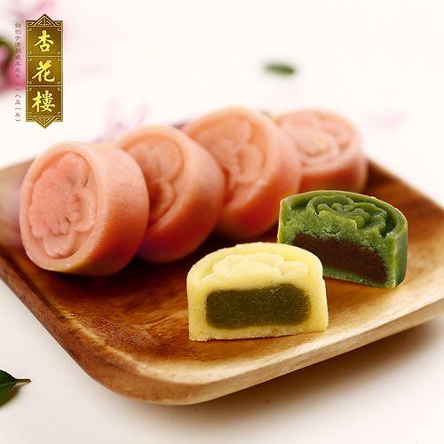 杏花楼老字号传统老式糕点杏花糕绿豆冰糕红豆味上海