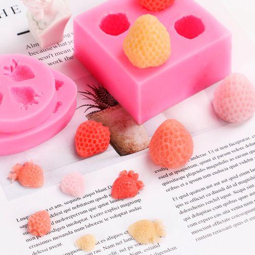 手工皂香皂 配手工皂diy硅胶模具 三款迷你草莓单模