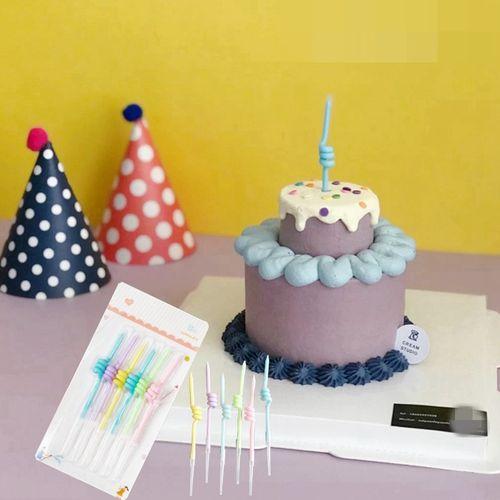 新品ins韩式复古蜡烛蛋糕装饰大拇指点赞糖果色裱花烘焙装扮插牌