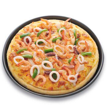 派刻(paike) 海鲜披萨9寸370g 烘焙面点 冷冻披萨成品 马苏里拉芝士