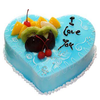 中帝(zhong di) 生日蛋糕同城配送水果奶油巧克力蛋糕