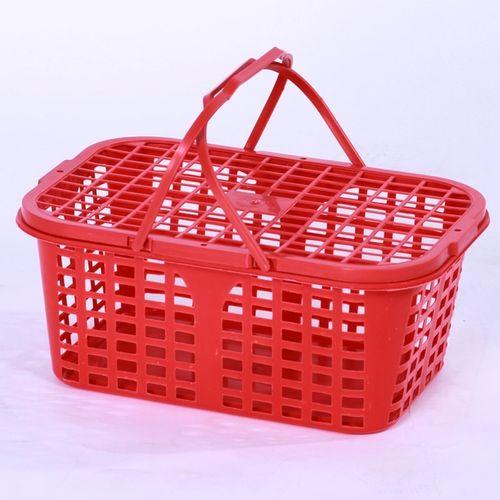 果园篮筐杨梅篮子手提水果篮塑料篮子菜篮子有盖草莓