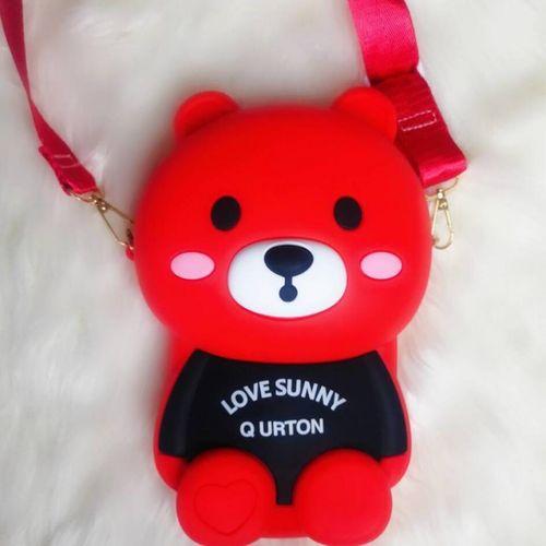 2020新款包包卡通小包包女欢乐熊硅胶公仔斜挎包潮流网红小熊包夏季款
