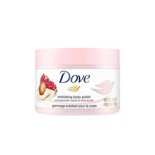 多芬石榴籽和乳木果风味冰激凌身体磨砂膏298g去角质