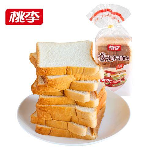 【9天短保】桃李麦芬吐司面包400g 面包早餐面包片代餐饱腹零食品